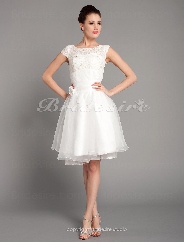 bridesire a lijn boot kant en organza bruidsjurk c6 362051 bridesire. Black Bedroom Furniture Sets. Home Design Ideas