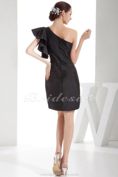 e3fc3390a5489f Bridesire - Schede Kolom Een schouder Korte broek   Mini Mouwloos ...