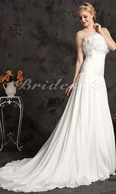 Organza Strijksleep Strapless