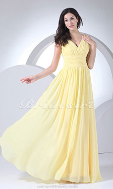 gele gala jurk
