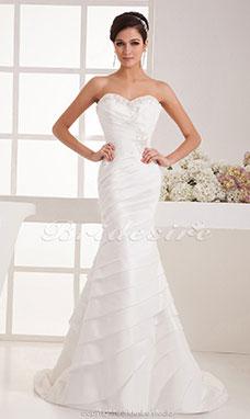 Trouwjurk Satijn.Bridesire Bruidsjurken 2019 Goedkope Trouwjurken Online